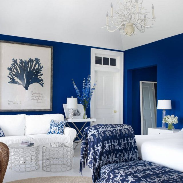 Wall Bedroom Contemporary Blue Decorations