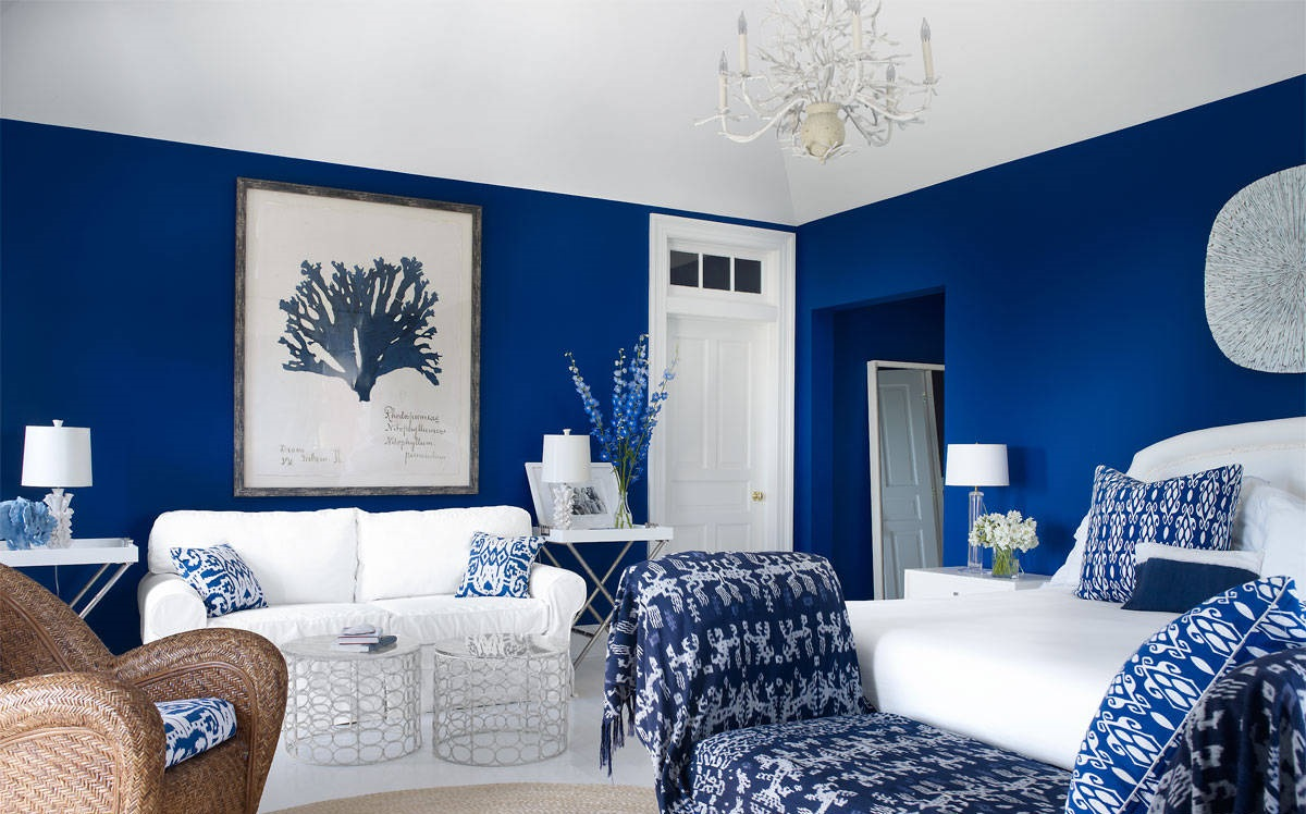 Cobalt blue home decor ideas for Home decorating company bedding