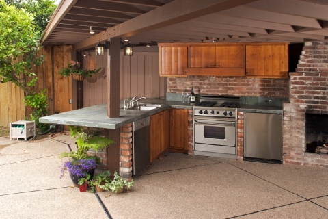 Outdoor Kitchen – Costs and Building Tips Picture